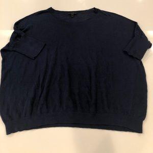 J. Crew Navy Linen Sweater size M